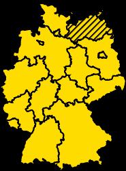 Bundesland Mecklenburg-Vorpommern Karte