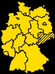 Bundesland Sachsen Karte