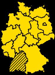 Bundesland Baden-Württemberg Karte